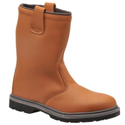Picture of FW12 PORTWEST STEELITE TAN RIGGER BOOT SPLIT LEATHER- SIZE 7